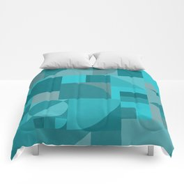 Turquoise Bauhaus Comforters