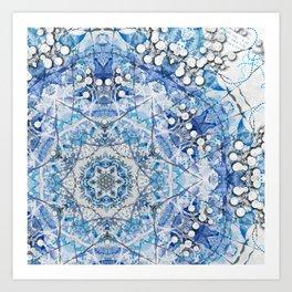 Blue Flake Art Print