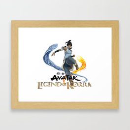 legend of korra of fire and water Framed Art Print