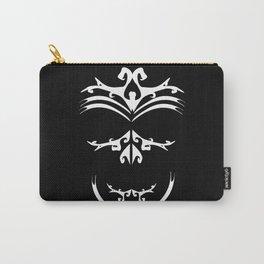 Maori skull black & white  Carry-All Pouch