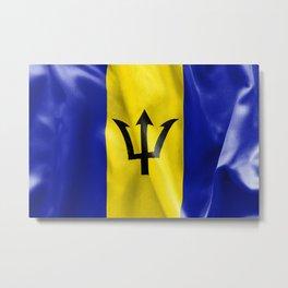Barbados Flag Metal Print