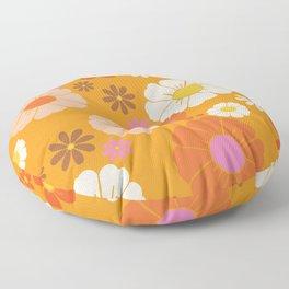 Groovy Mod 60's Flower Power Floor Pillow