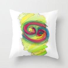 Cancer Flow Throw Pillow