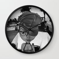 sassy Wall Clocks featuring Sassy by Plume 111