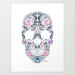 Colorskull Art Print