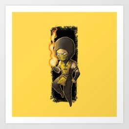 MortalKombat Scorpion Art Print