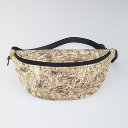Abstract crumpled foil background. Grunge photo background. Fanny Pack