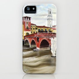 Lovers Bridge in Verona iPhone Case