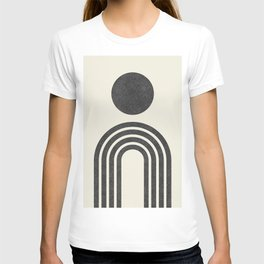 Mid century modern black T-shirt
