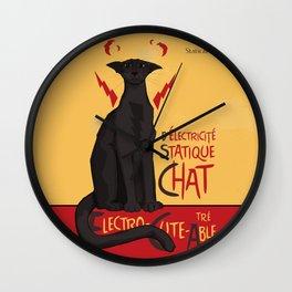 d'Electricité Statique Chat [Staticat] Wall Clock