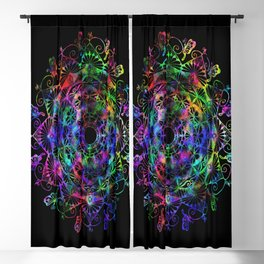 Butterfly mandala Blackout Curtain