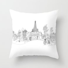 Paris! Version#1 Throw Pillow