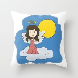 Guardian Angel - Mother figure - Heavenly Throw Pillow