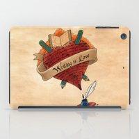 writing iPad Cases featuring Writing is Love by gunberk