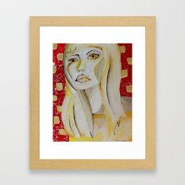 Fashionista in Primaries Framed Art Print