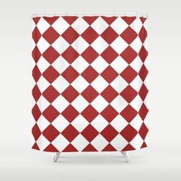 HARLEQUIN (BROWN & WHITE) Shower Curtain