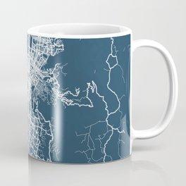 Medellin Blueprint Street Map, Medellin Colour Map Prints Coffee Mug