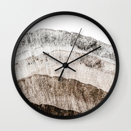 Tree Slice Abstract  Wall Clock