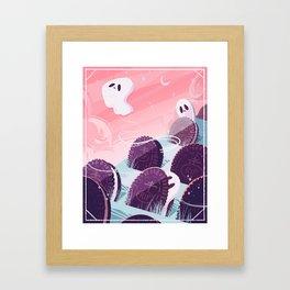 Oreo Ghost Framed Art Print