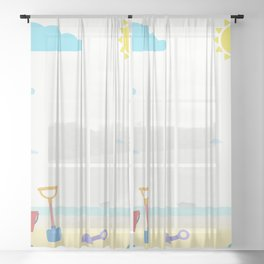 Summer is coming Sheer Curtain