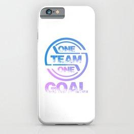 One Team One Goal pb iPhone Case
