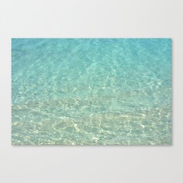 Colors of the Sea Water - Clear Turquoise Canvas Print