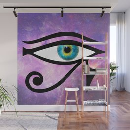 A Galaxy in Her Eyes Wall Mural