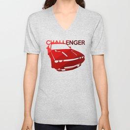 Dodge Challenger - classis red - Unisex V-Neck