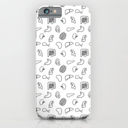 Organs, Black on White iPhone Case