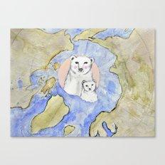 Polar Bear Portrait Canvas Print
