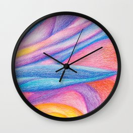 cloudy sunset Wall Clock