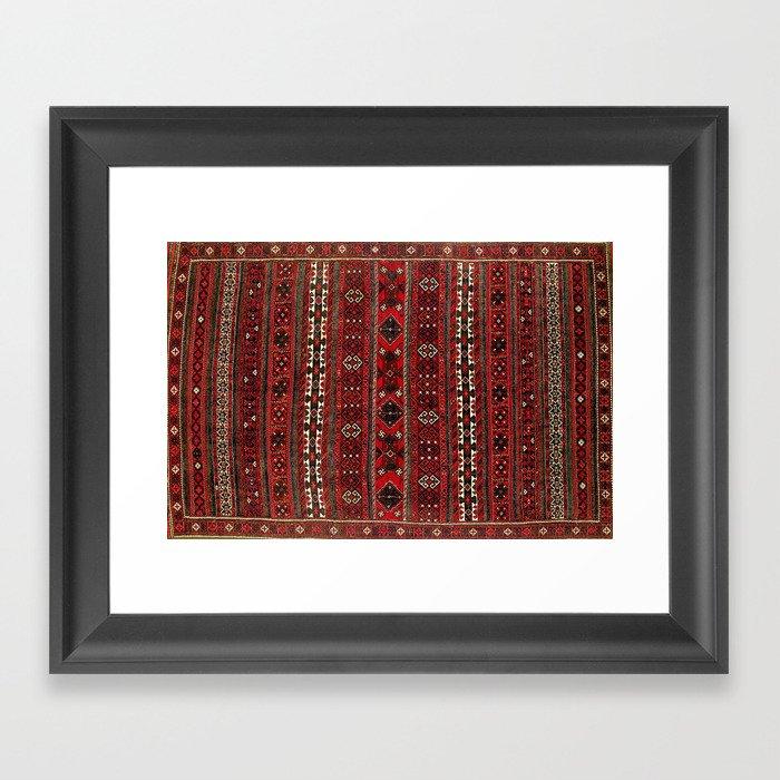 Baluch Flatweave  Antique Afghanistan  Rug Print Gerahmter Kunstdruck