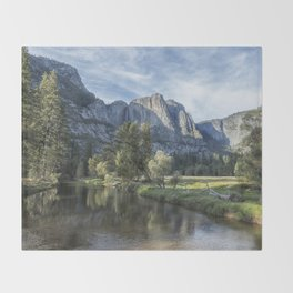 Yosemite Falls from Cook's Meadow Throw Blanket