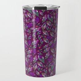 Tumbling Leaf Purple Travel Mug