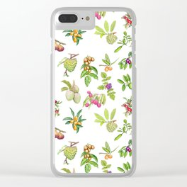 Tropical Fruit Clear iPhone Case
