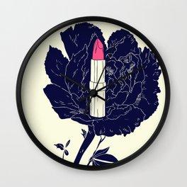 Peony Lip Wall Clock