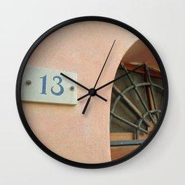 13 - Wrought Iron Door Wall Clock