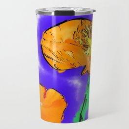 The Orange Poppy Pair Travel Mug