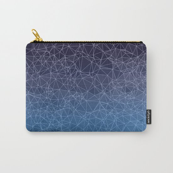 Polygonal blue, black and purple Carry-All Pouch