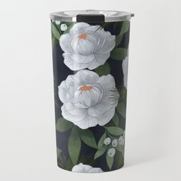 winter rose // repeat pattern Travel Mug