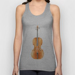 Cello - Watercolors Unisex Tank Top