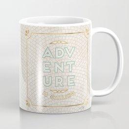 Adventure is Calling Mosaic – Cream Palette Coffee Mug