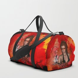 The fairy of music, clef and key notes Duffle Bag