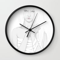 bondage Wall Clocks featuring Bondage by Mai Evangelista