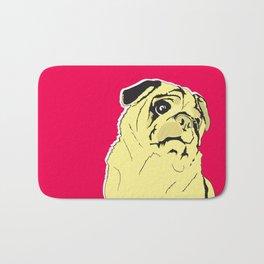 Shmoo the pug Bath Mat