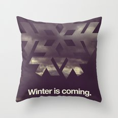 Winter is coming. Throw Pillow