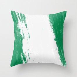 Nigeria's Flag Design Throw Pillow