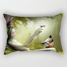 Lady of the Forest Rectangular Pillow