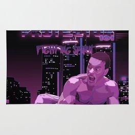 Van Damme vs. Robocop fighting spirit Rug