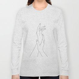 Hands line drawing illustration - Dia Long Sleeve T-shirt